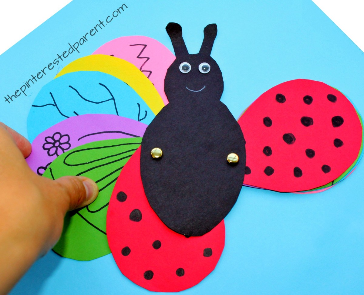 Transforming Ladybug Butterfly Craft