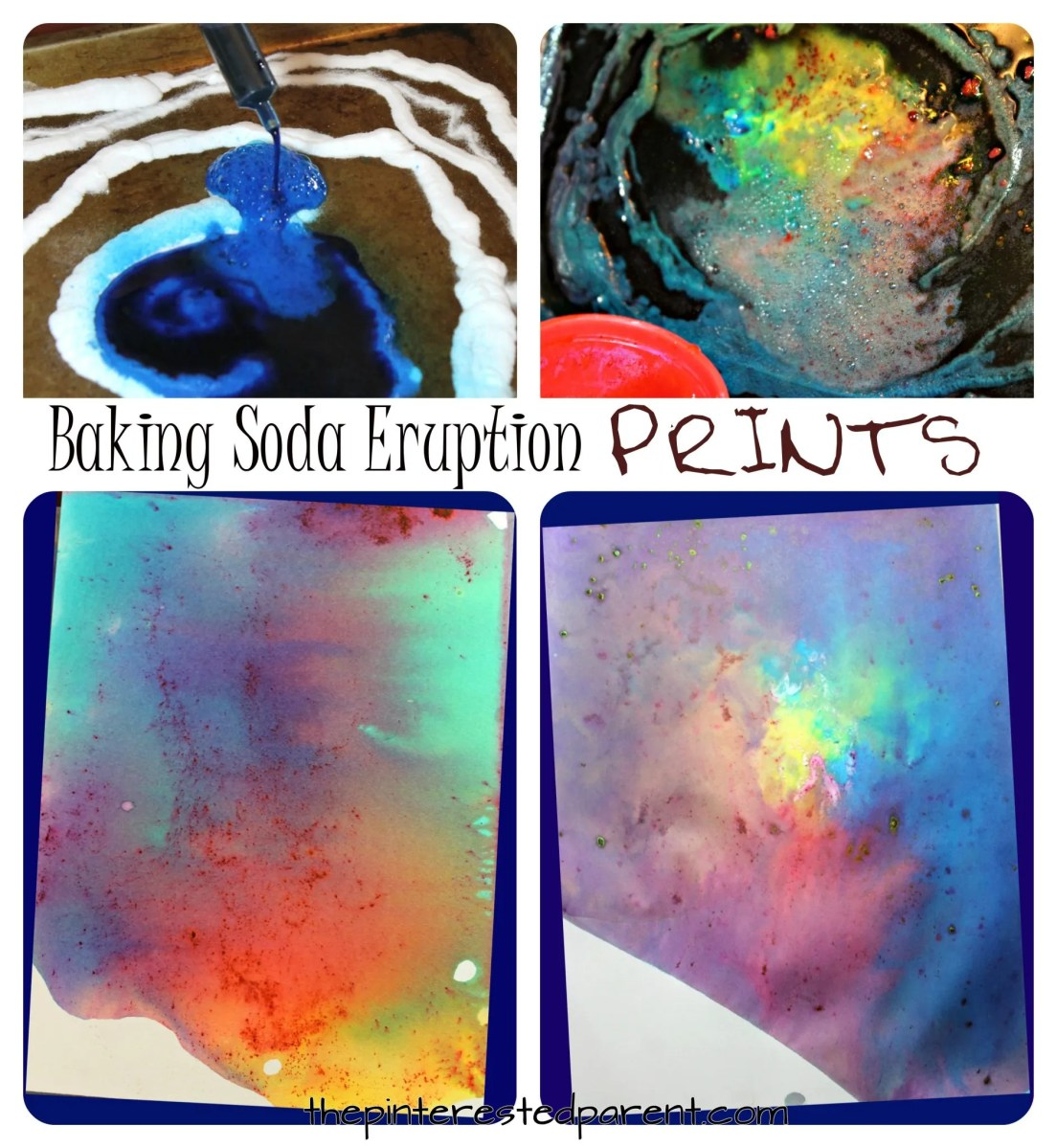 Baking Soda Eruption Prints