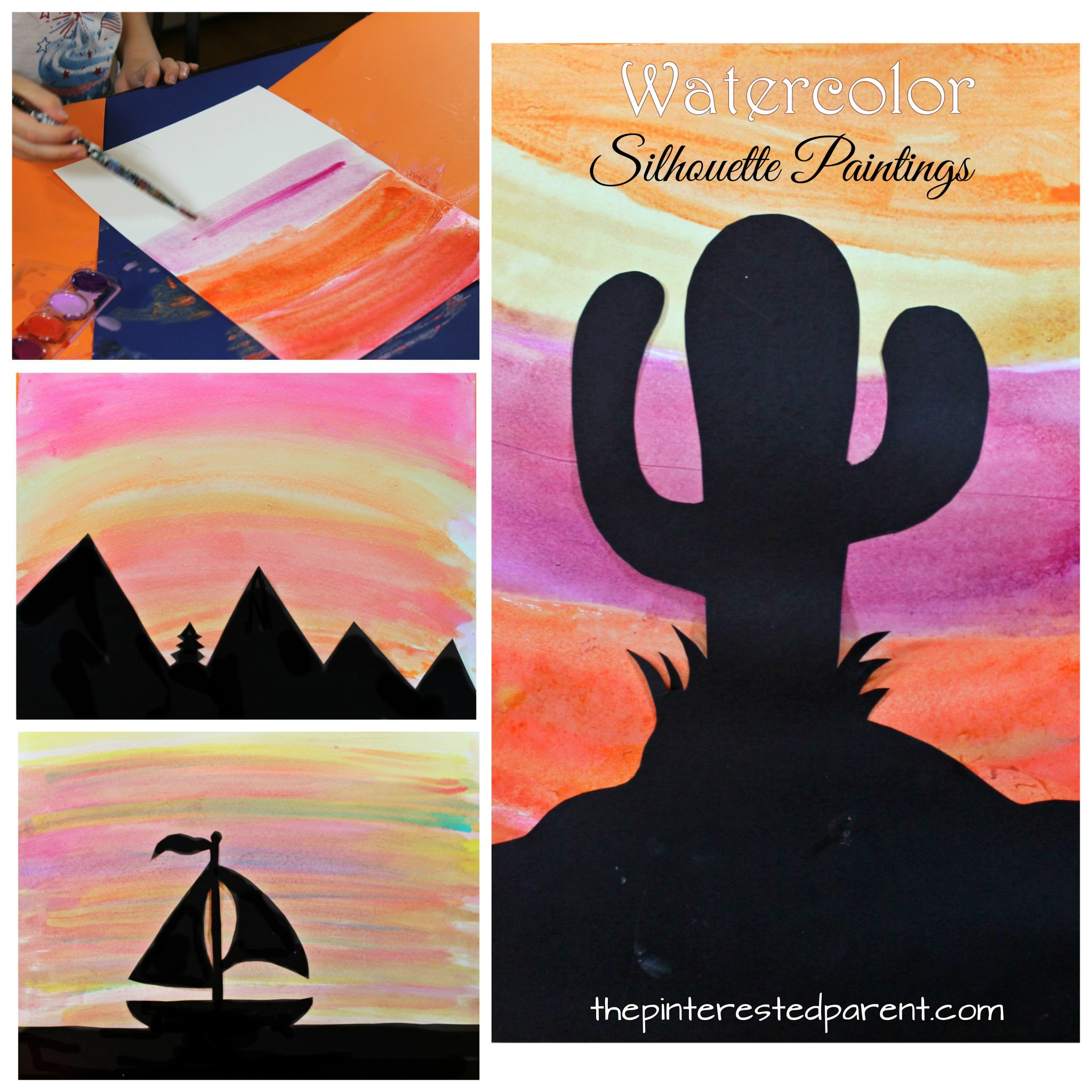 photograph regarding Free Printable Silhouettes named Watercolor Silhouette Surroundings The Pinterested Guardian