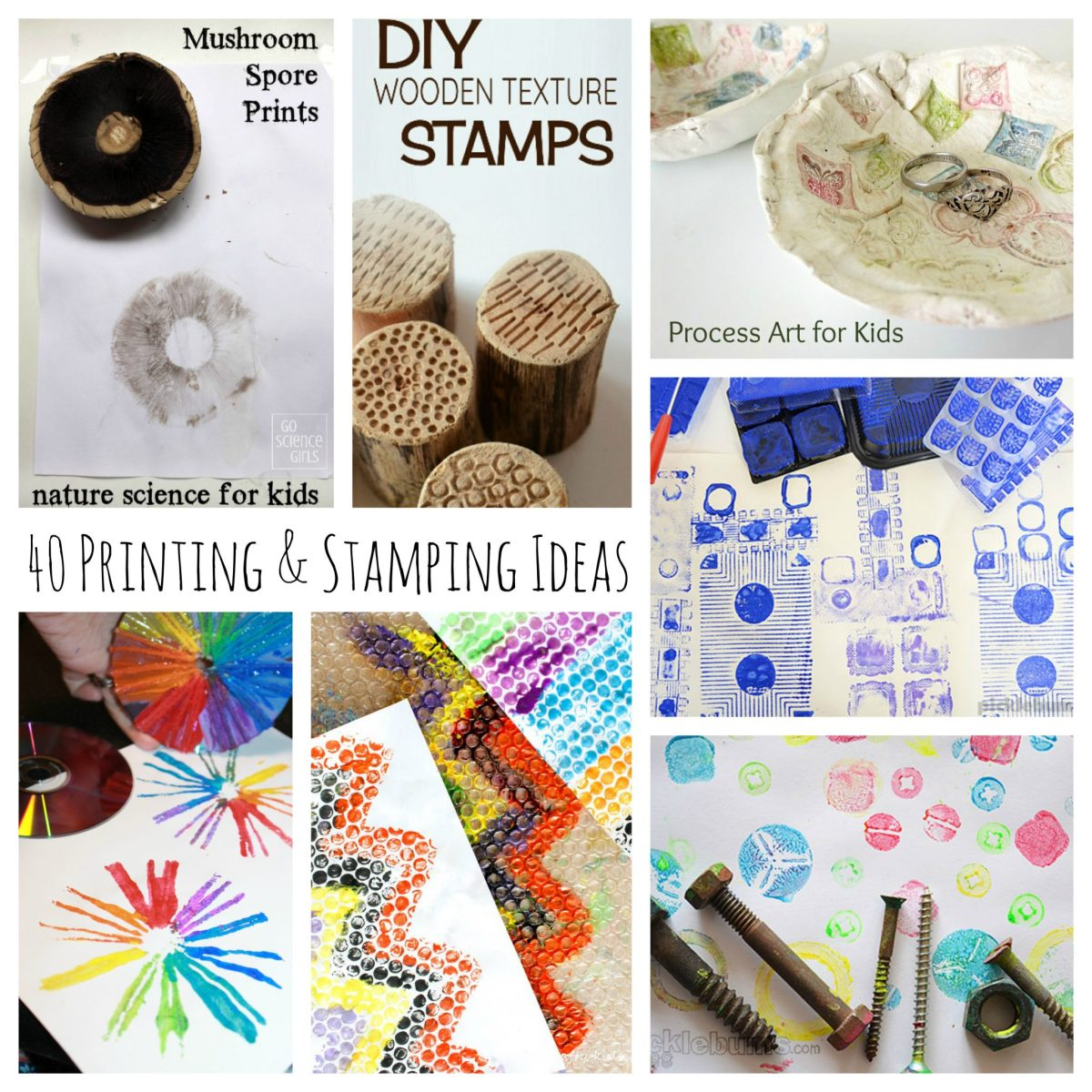 40 Printmaking and Stamping Ideas For Kids