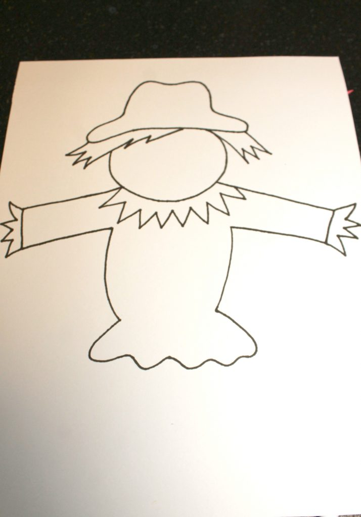It is a graphic of Scarecrow Template Printable inside clothes