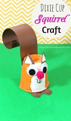 Dixie Cup Squirrel Craft