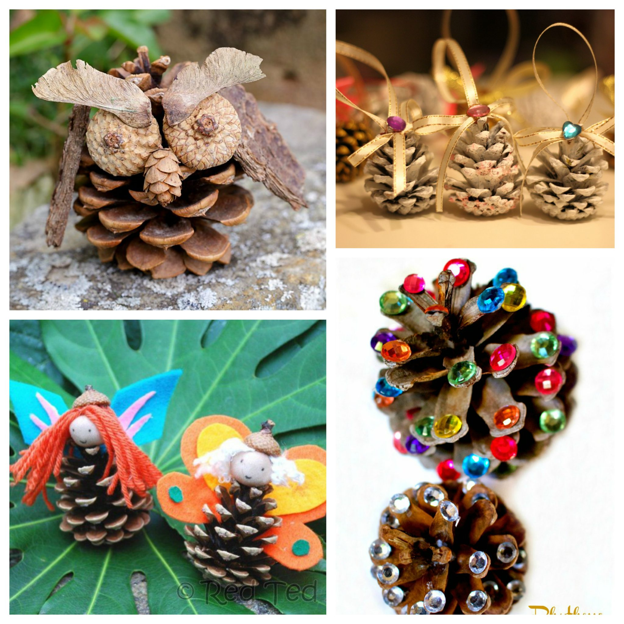 Pine Cone Crafts Part - 50: 18 Gorgeous Pine Cone Crafts. Nature Arts And Crafts For Kids.