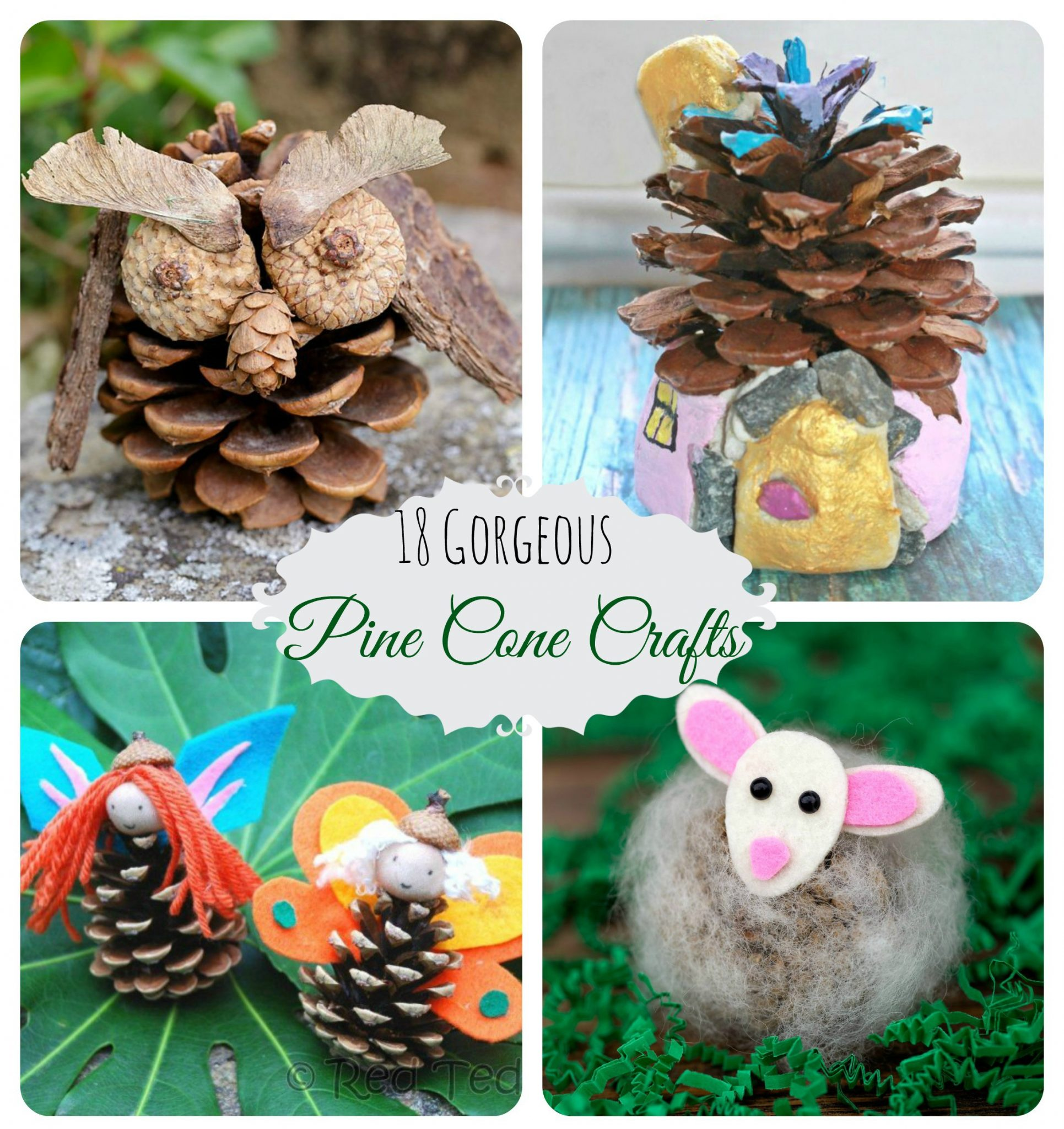 Pine Cone Crafts Part - 25: 18 Gorgeous Pine Cone Crafts. Nature Arts And Crafts For Kids.