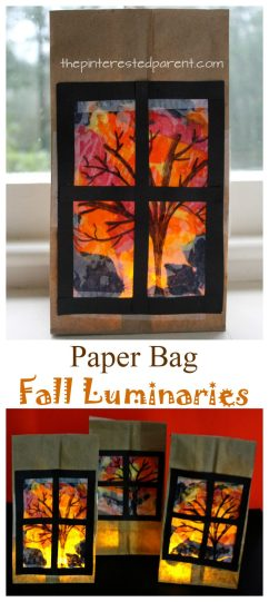 Paper Bag Fall Luminaries – The Pinterested Parent