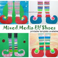 Mixed Media Elf Shoes