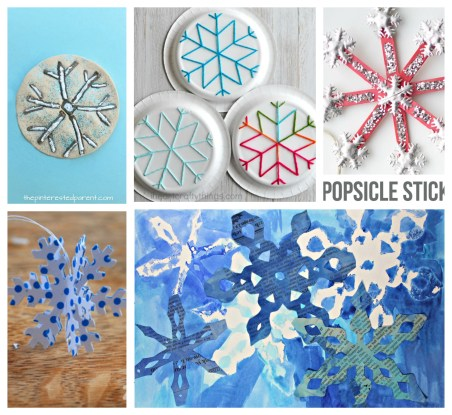 25 snowflake arts and crafts ideas. Winter & Christmas arts and crafts projects for kids.