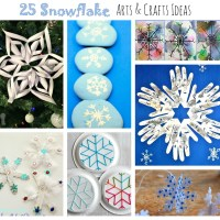 25 Snowflake Arts and Crafts for Kids
