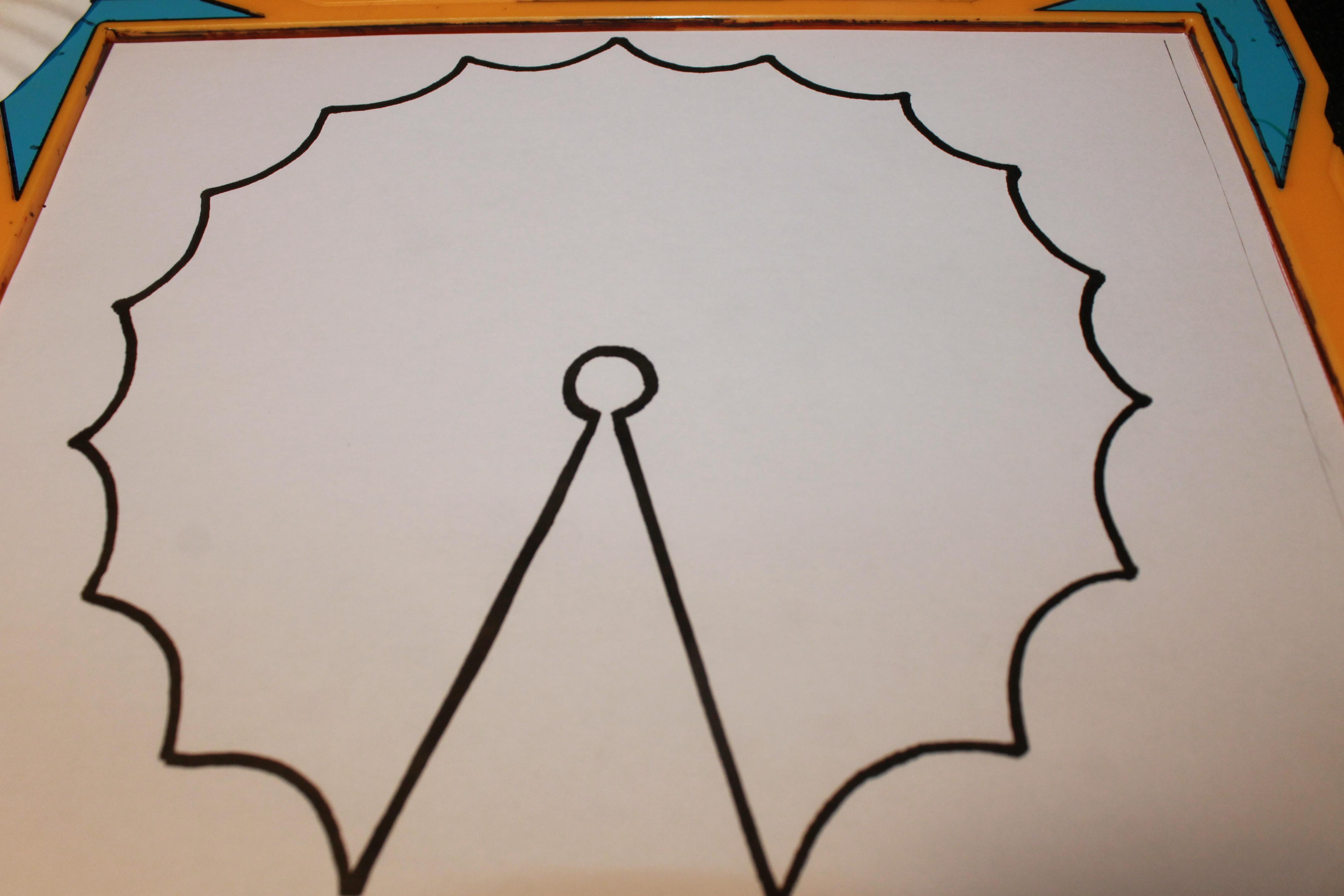 graphic regarding Printable Umbrella called Spring Umbrella Craft With Printable The Pinterested Dad or mum