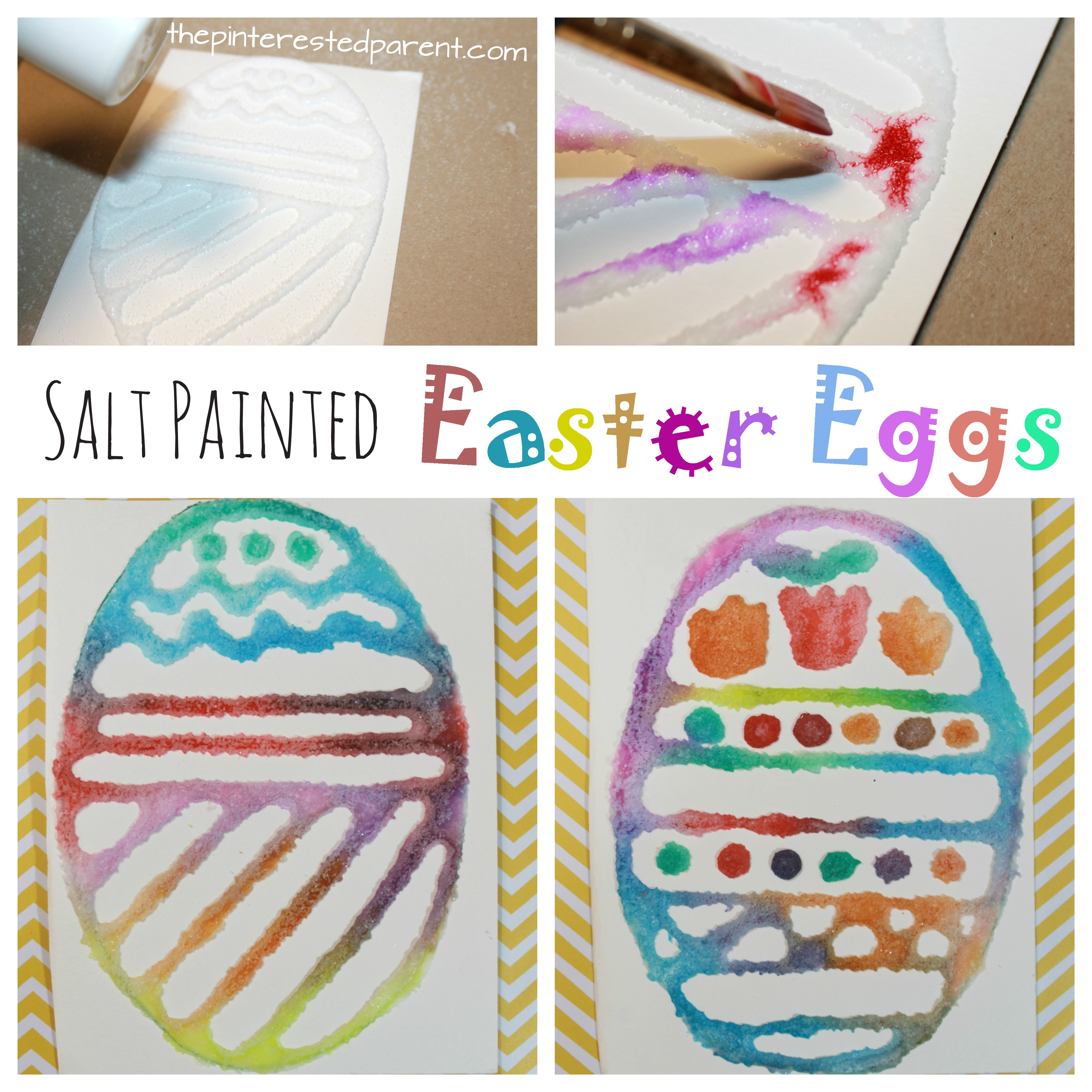 Salt Painted Easter Eggs The Pinterested Parent