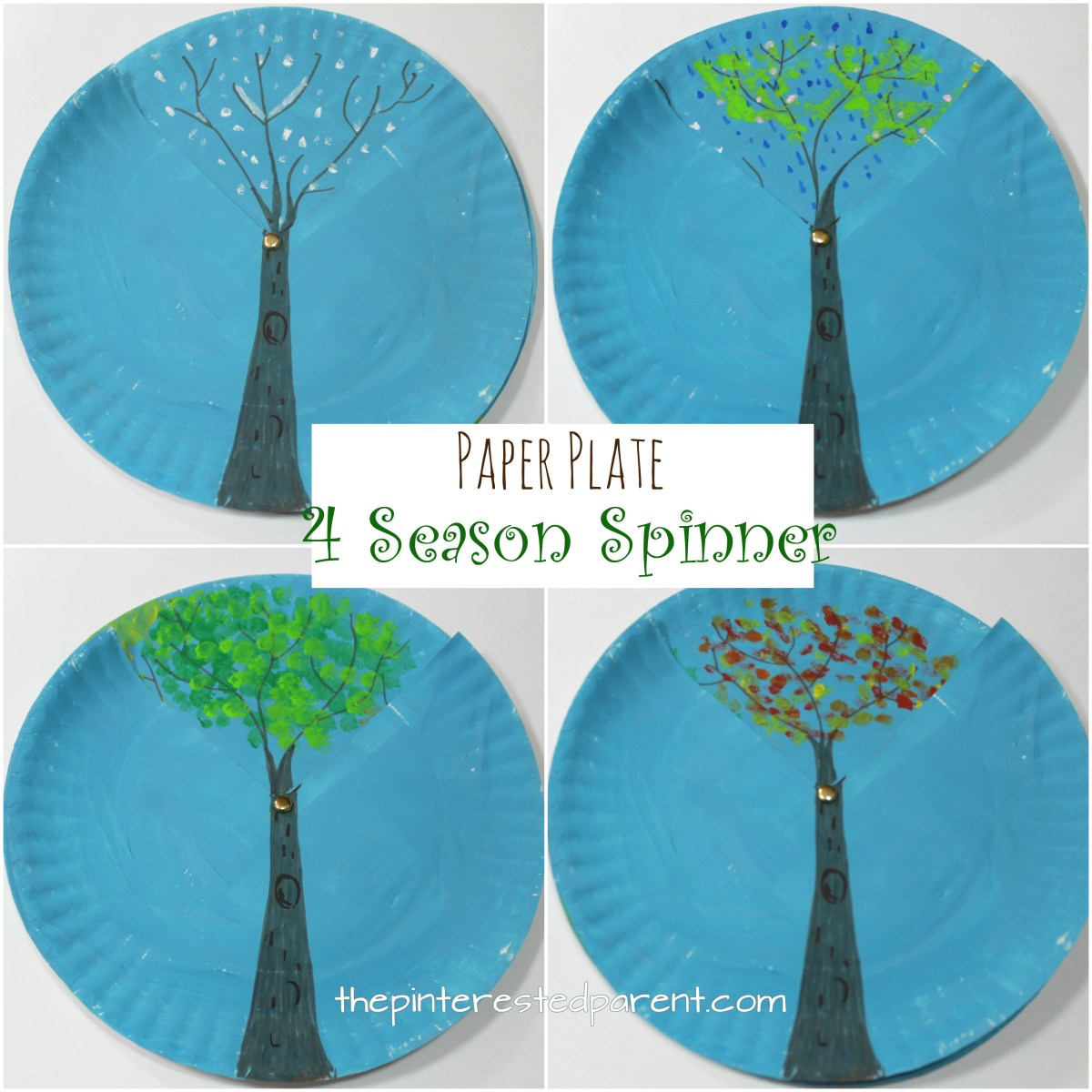 Paper Plate Four Season Spinner