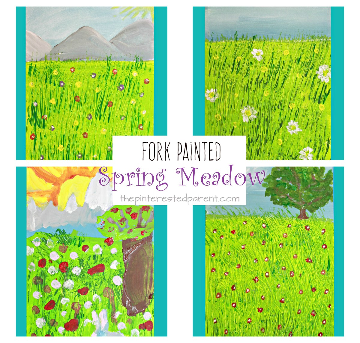 Fork Painted Spring Meadow
