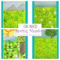 Fork Painted Spring Meadow - kids art projects for the spring. Fun arts and crafts project