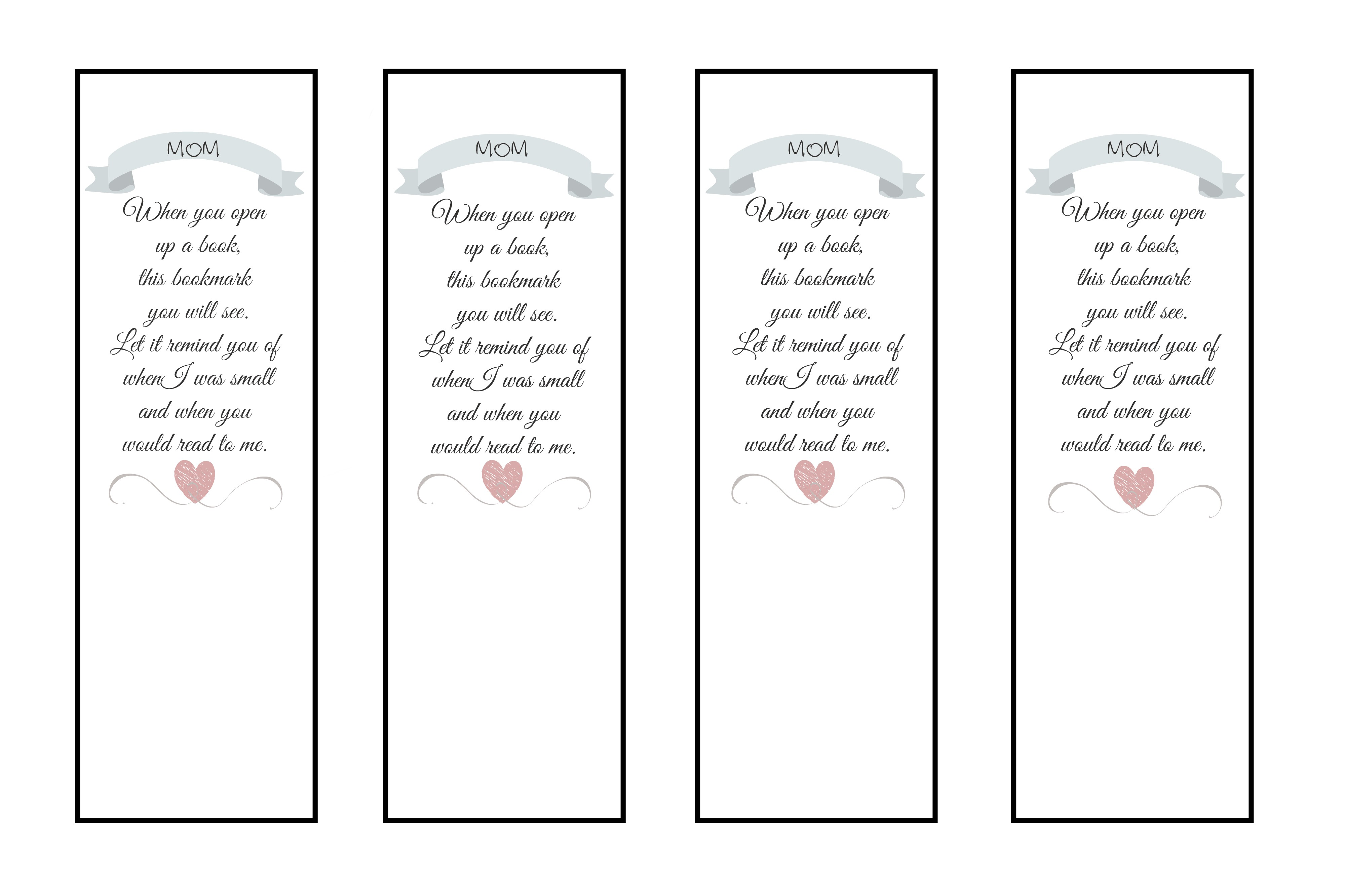 mother 39 s day printable bookmark the pinterested parent. Black Bedroom Furniture Sets. Home Design Ideas