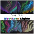 Chalk Pastel Northern Light Art for kids