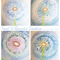 Pastel & Watercolor Dandelion
