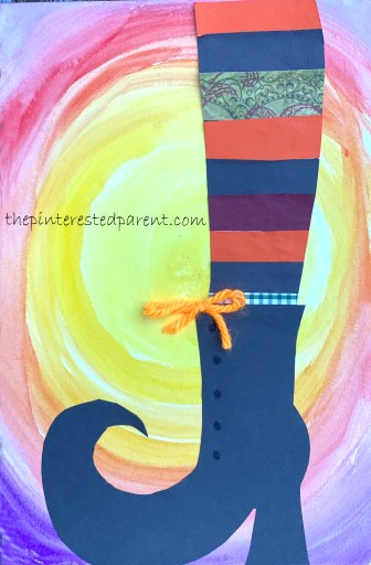Mixed Media Witch Shoe with printable template