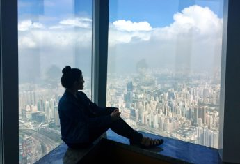 Checking into the Ritz Carlton Hong Kong