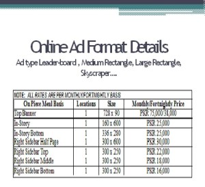 Advertisement Rates