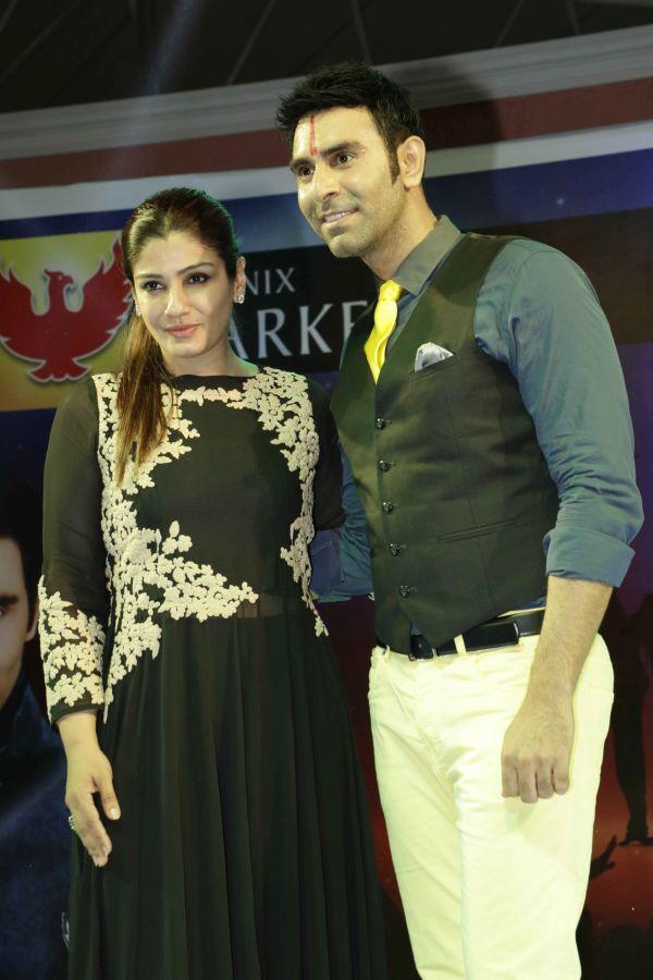 Raveena Tandon with Sandip Soparrkar