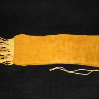 Leather Pipebag With Fringe