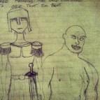 Baldurs Gate 2 inspired Characters. Jonas, Bingham Family body guard (Left) Gorp, Brawler (Right)