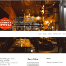 Website Design for Farmer's Bottega Restaurant