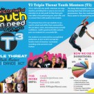 New Trifold Brochure for Non-Profit T3 Triple Threat Youth Mentors