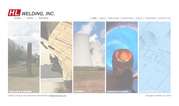 Screenshot of HL Welding, Inc. Website