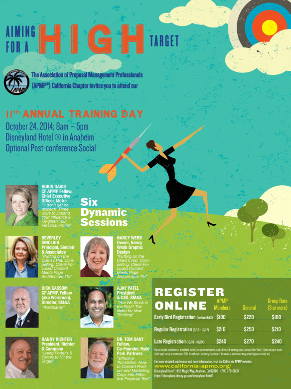 Poster for APMP California's 2014 Annual Training Day