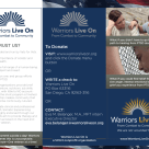 Trifold Brochure for Warriors Live On