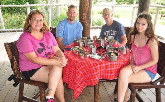 Dining on Wild Africa Trek