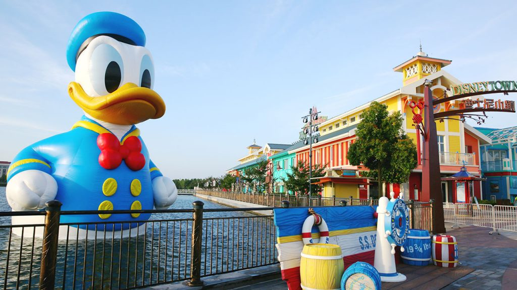 A Giant Donald Duck Visits Wishing Star Lake