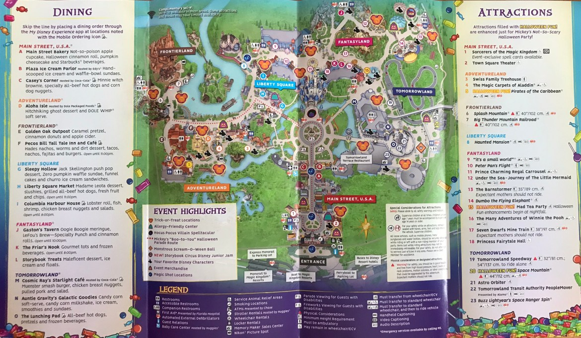 2018 MNSSHP Character Locations and Trick or Treat Stops