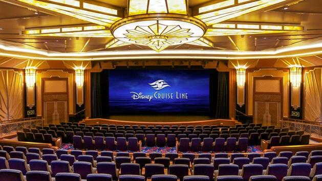 Disney Cruise Line Movie Theater showing first run Disney Movies