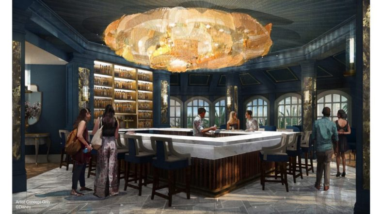 "New Lounge with ""Beauty and the Beast"" Theming and Touches at Disney's Grand Floridian Coming Soon"