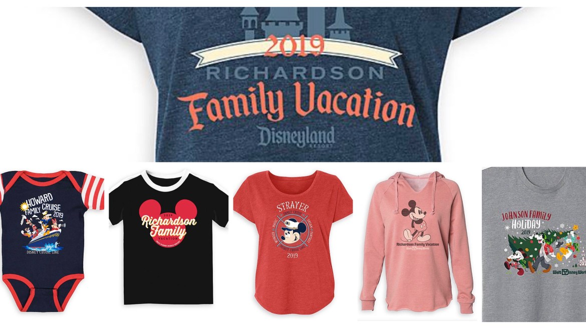 Now You Can Get Personalized Matching Shirts Direct from Disney