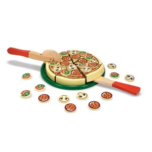 Pizza Party Wooden Play Food Set by Melissa & Doug, Pizza Party Toy Set