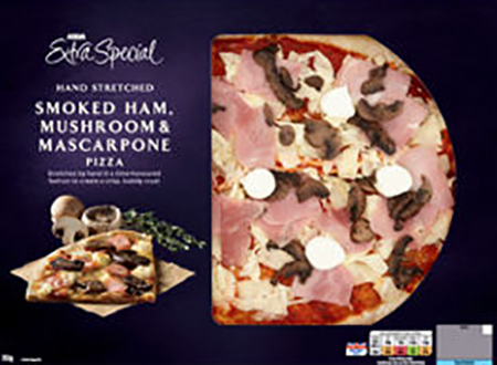Smoked Ham, Mushroom & Mascarpone Pizza from ASDA