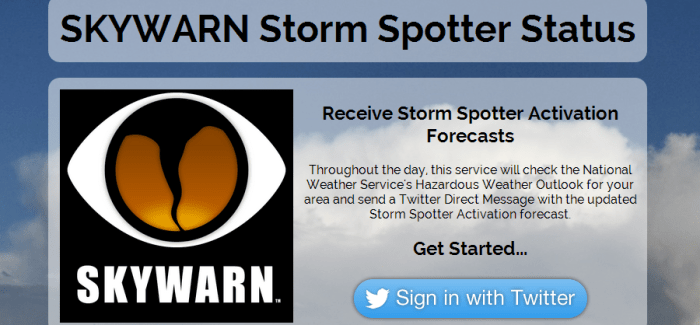 SKYWARN Storm Spotter Status released!