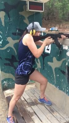 Firing an AK47