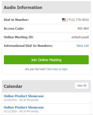 Free Conference Call Info