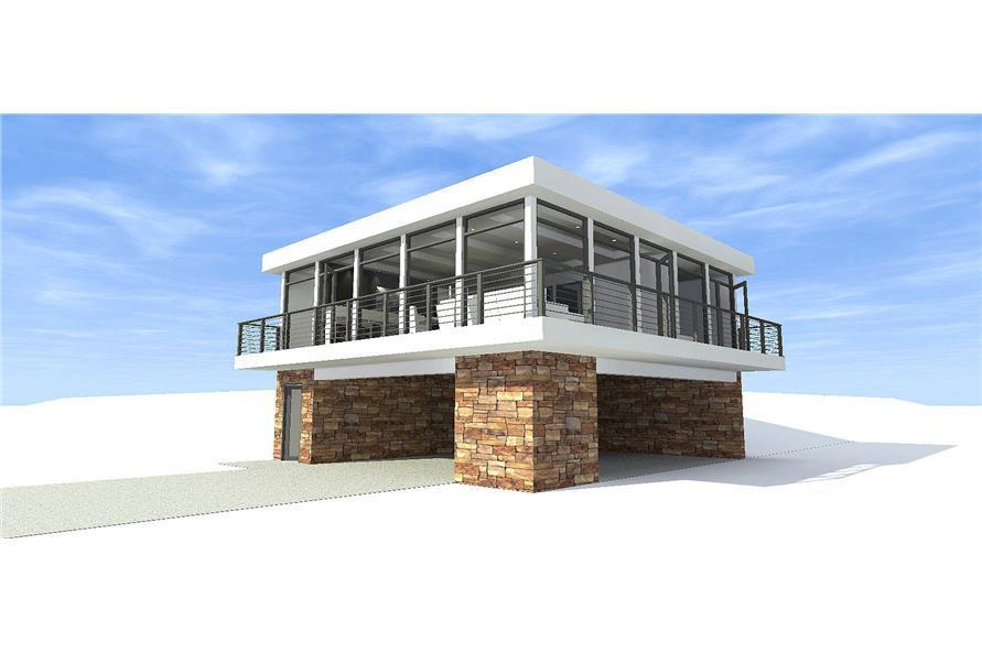 Concrete Block/ ICF Design,Modern,House Plans