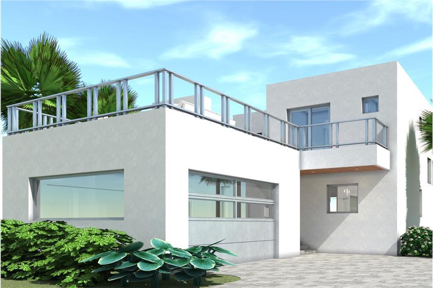 2 Bedrm, 1476 Sq Ft Modern House Plan #116-1122