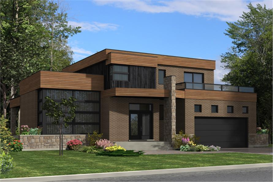 Contemporary House Plan #158-1275: 3 Bedrm, 1850 Sq Ft