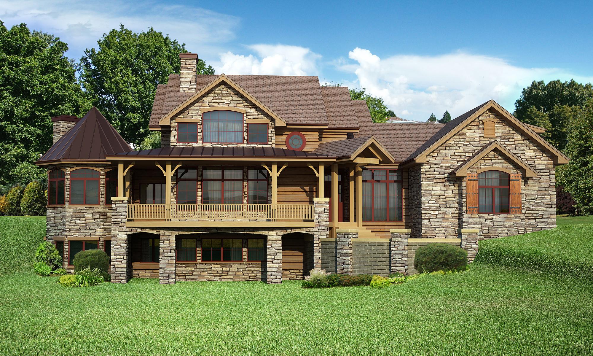 House Plan #161-1057: 4 Bdrm, 4,410 Sq Ft Craftsman Home