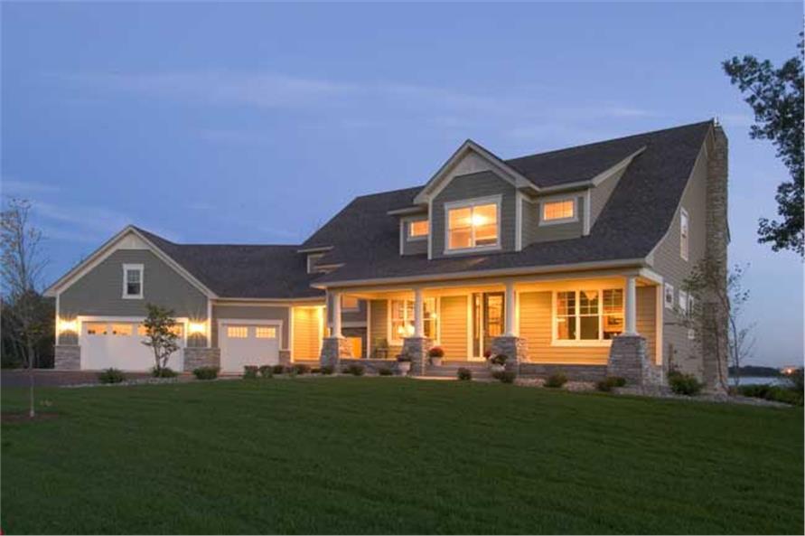 Farmhouse Home Plan - House Plan #165-1090