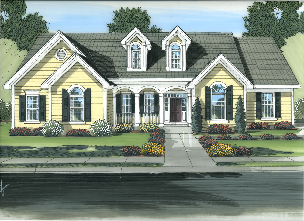 Traditional House Plan #169-1067: 3 Bedrm, 2250 Sq Ft Home