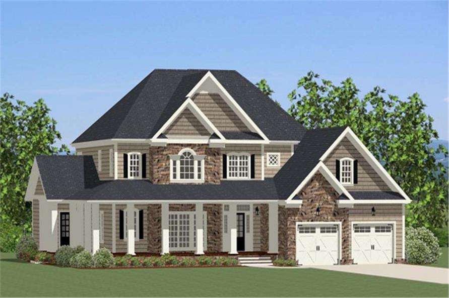 House Plan #189-1018: 4 Bdrm, 3,609 Sq Ft Craftsman Home