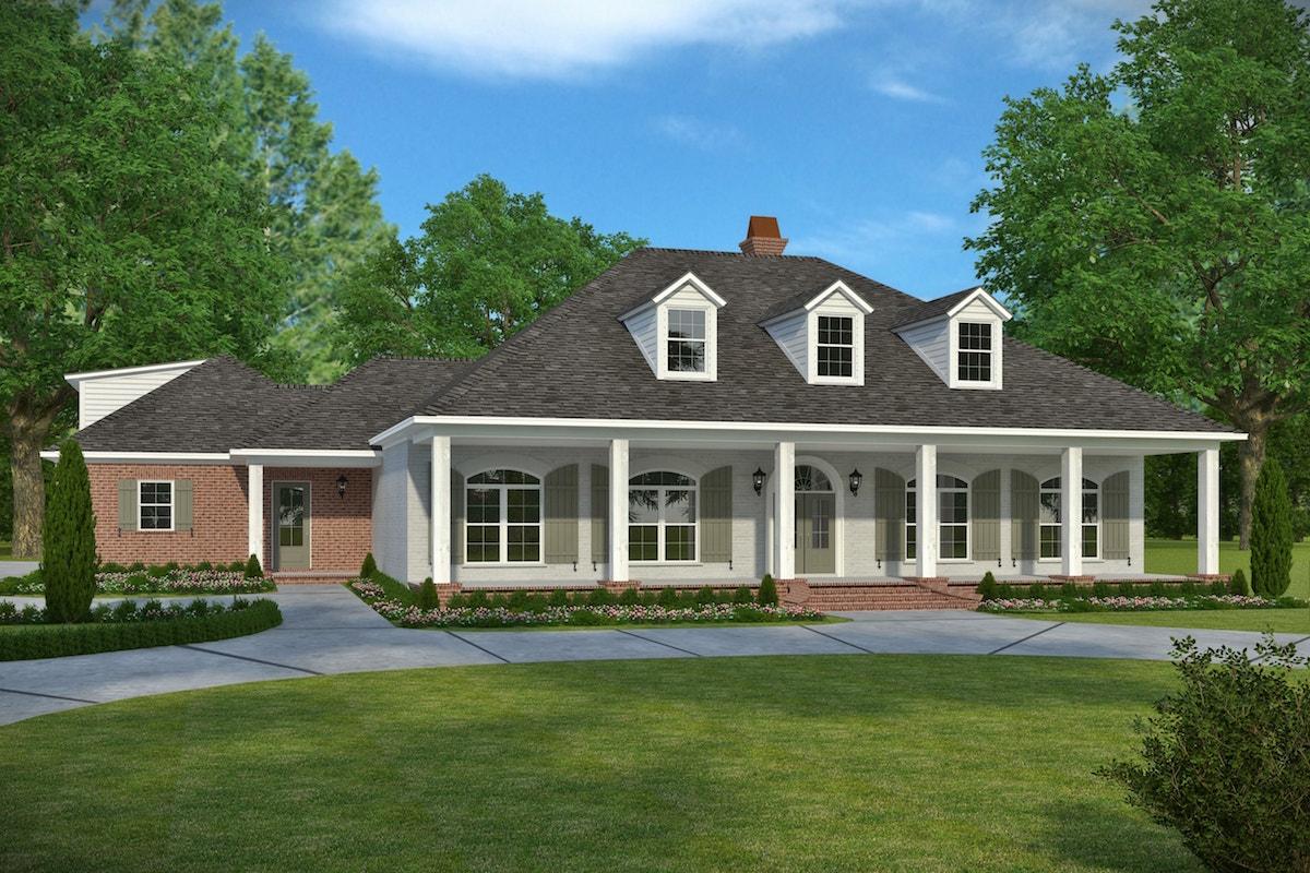 3 Bedrm, 2964 Sq Ft Acadian House Plan #197-1024